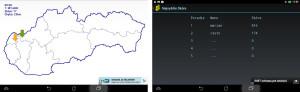 Slovensko - Slepá mapa app