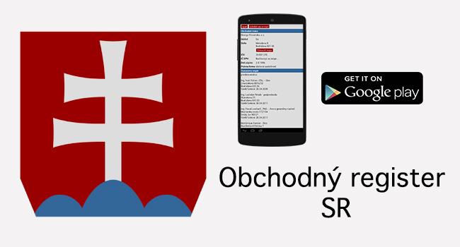 Obchodný register app